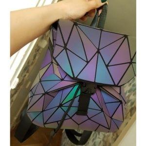 JUST💋IN Geo Luminous Mini Drawstring Backpack